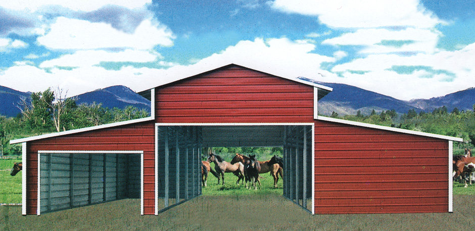 A-Frame Style Barns by Coast to Coast Carports, Inc.
