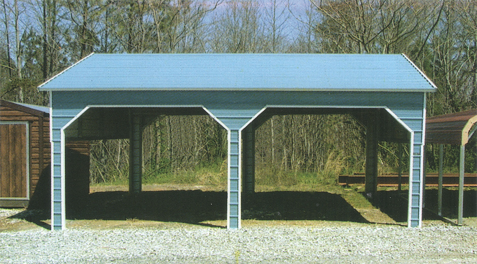Horizontal Roof Side Entry Carports by Coast to Coast Carports, Inc.