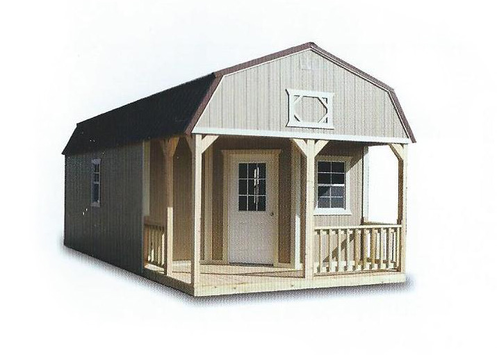 Cumberland Painted Deluxe Lofted Barn Cabins